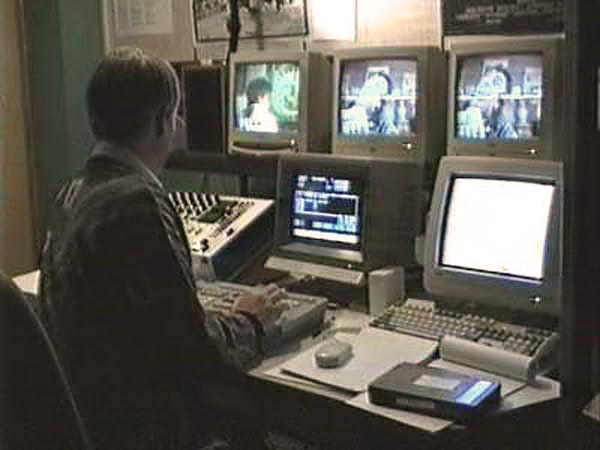 Stan Pow offline editing an episode of Lovejoy